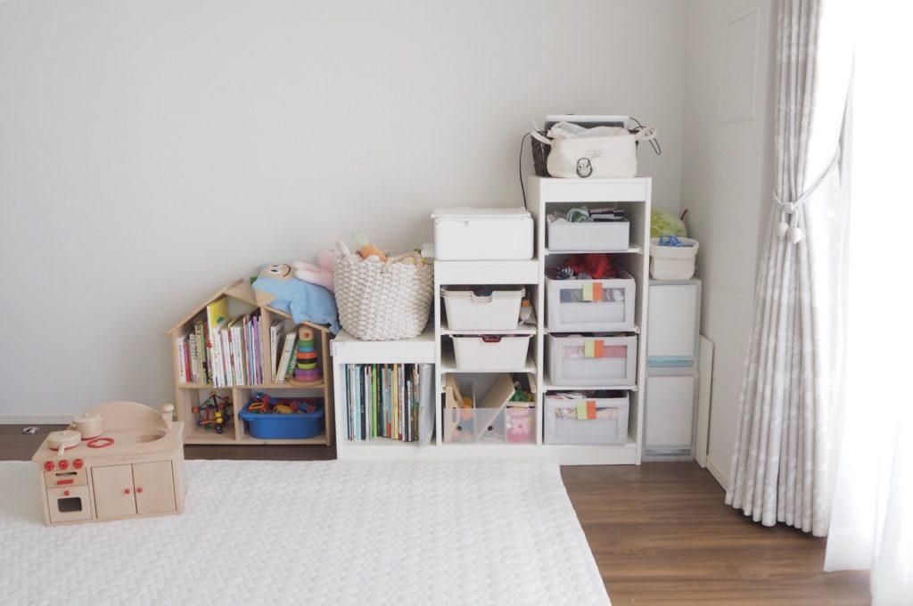 IKEA Trofastの置き方で子供部屋をスッキリ見せるには、レイアウト変更前