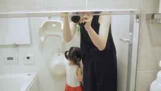 家事代行CaSyさんがお掃除直後のお風呂鏡、くっきりピカピカです