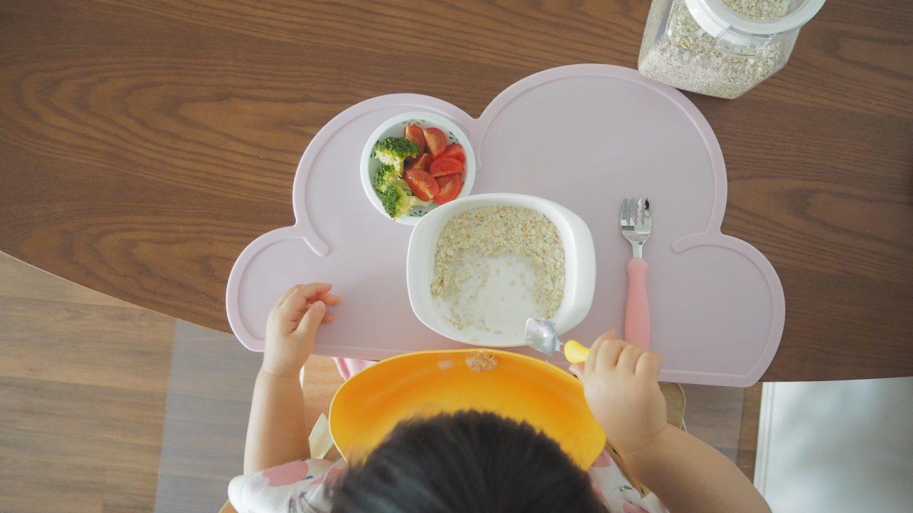 2歳の朝食にパンが無い日はオートミールで代用